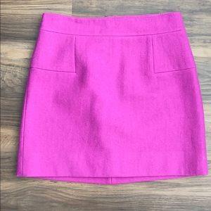 Magenta J.Crew Wool Skirt